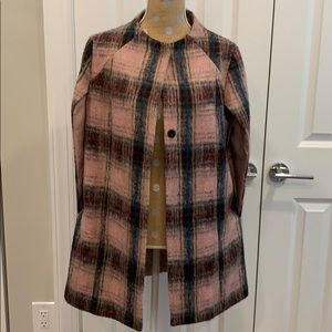 Plaid wool cape- medium